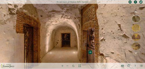 Perrier-Jouët visite virtuelle_Escalier secret de la Maison Belle Epoque