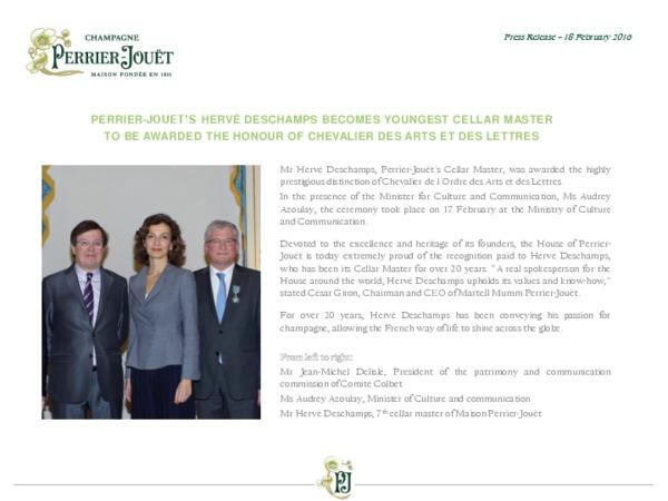 Perrier-Jouët press release - Hervé Deschamps awarded Chevalier des Arts et des Lettres - FV - ENG.pdf