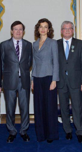 Jean-Michel Delisle, Audrey Azoulay, Hervé Deschamps