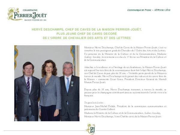 Communiqué de presse Perrier-Jouët - Hervé Deschamps Chevalier des Arts et des Lettres - VF - FR.pdf