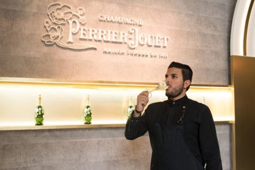 Chef Akrame at Perrier-Jouët Eden Tokyo