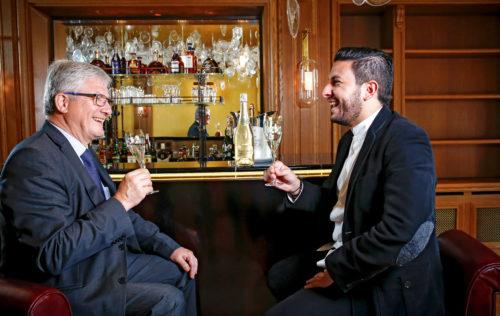 Hervé Deschamps and Chef Akrame