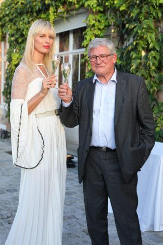 Karolina Kurkova and Perrier-Jouët Cellar Master Hervé Deschamps