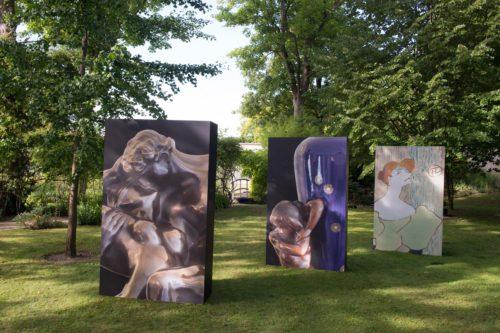 Maison Perrier-Jouët masterpieces in the garden of Maison Belle Epoque