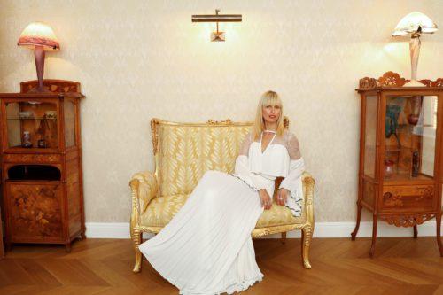 Karolina Kurkova inside Maison Belle Epoque