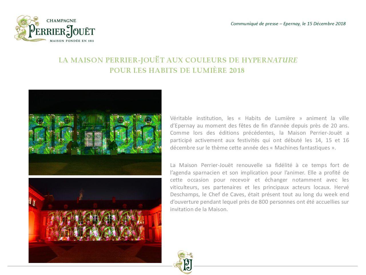 La Maison Perrier-Jouet aux couleurs de HyperNature pour les Habits de Lumiere 2018 -pdf