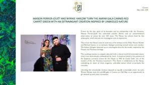 Perrier-Jouet press release - amfAR