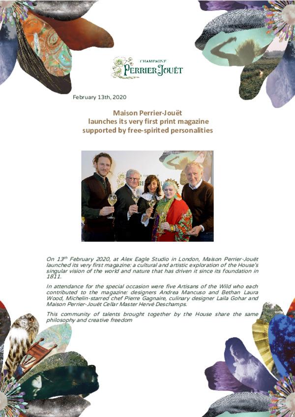 20200213Press Release Launch of Perrier Jouet AOTW Magazine-pdf